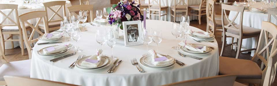 Hochzeitstische in Hof und Umgebung